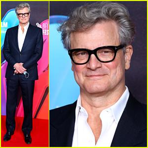 Colin Firth Attends Socially Distanced 'Supernova' Premiere in London