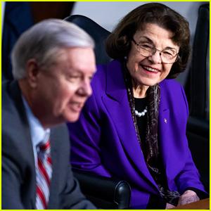 'She's 87' Trends on Twitter After Senator Dianne Feinstein Praises & Hugs Lindsey Graham at SCOTUS Hearings