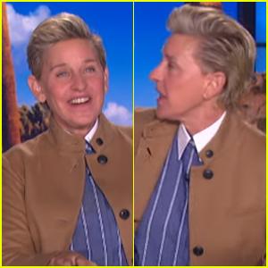 Ellen DeGeneres Debuts a New Slicked Back Hairdo