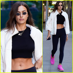 Irina Shayk Bares Her Toned Abs While Out in NYC!