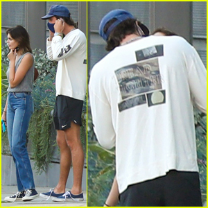 Jacob Elordi & Kaia Gerber Share a Kiss While Out in Los Angeles!