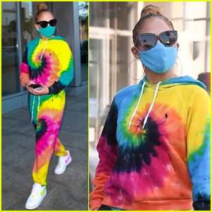 Jennifer Lopez Rocks Tie-Dye While Shopping in Beverly Hills