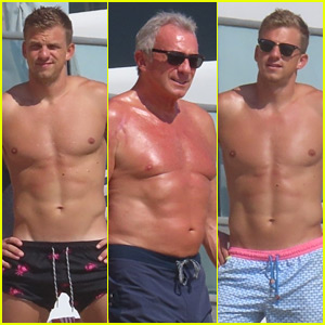 NFL Legend Joe Montana Hits the Beach with His Hot Sons Nick & Nate!