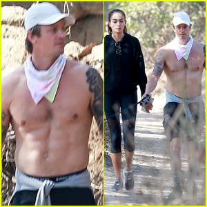 Joel Kinnaman Bares His Abs on Hike with Girlfriend Kelly Gale!