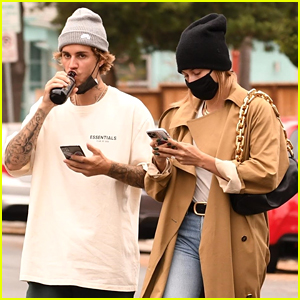 Justin Bieber & Wife Hailey Grab Some Lunch at Upscale Market Erewhon