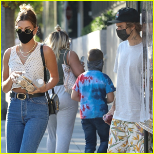 Justin & Hailey Bieber Head Out on Juice Run in L.A.