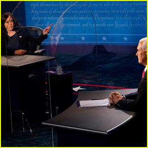 See the Plexiglass Shield In Between Kamala Harris & Joe Biden at the Vice Presidential Debate (Photos)