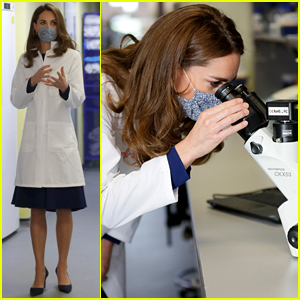 Duchess Kate Middleton Helps Out in a Research Lab