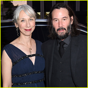 Keanu Reeves Gives Girlfriend Alexandra Grant A Sweet Kiss While Out in Berlin