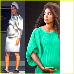 Pregnant Kelly Rowland Cradles Baby Bump on Photo Shoot Set, Shares Video in Her Bikini!