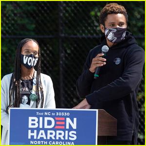 Kerry Washington & Husband Nnamdi Asomugha Make Rare Appearance Together Campaigning for Joe Biden!