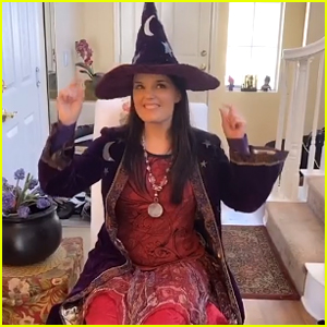 Kimberly J. Brown Wears Marnie Piper's Witch Costume From 'Halloweentown'