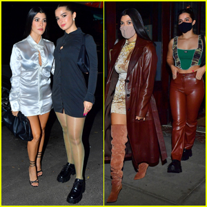 Kourtney Kardashian & Addison Rae Show Off Their Stylish Sides in NYC!