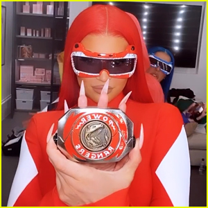 Kylie Jenner Dresses as Red Power Ranger with Her Friends for Halloween!