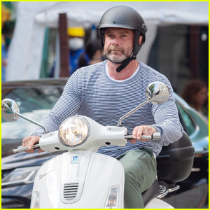 Liev Schreiber Zips Around on His Scooter in NYC
