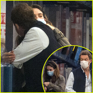 Lily James & Dominic West Cuddle at Airport After PDA Pics (Photos)