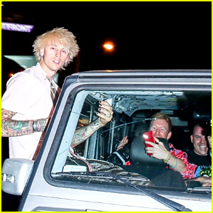 Machine Gun Kelly Breaks the Windshield While Hanging Out of Car Window