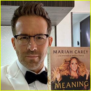 Ryan Reynolds Got All Dressed Up to Promote Mariah Carey's Memoir!