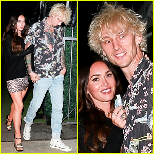 Megan Fox Keeps Close to Boyfriend Machine Gun Kelly During a Friday Night Date