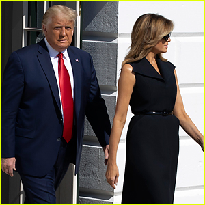 Melania Trump Seen for First Time Since COVID-19 Diagnosis While En Route to Debate, Doesn't Wear Mask