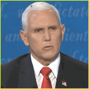 A Fly Sat on Pence's Head at