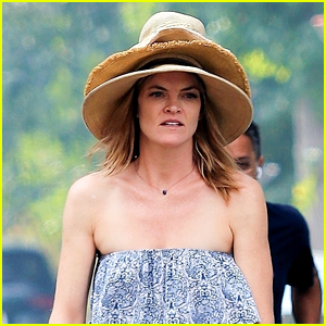 Missi Pyle Wears Three Hats at Once During a Scooter Ride