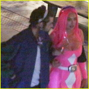 Noah Centineo Packs On PDA with Stassie Karanikolaou at Halloween Party