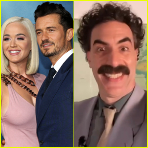 Orlando Bloom Surprises Katy Perry with Message from Borat on Her Birthday - Watch!