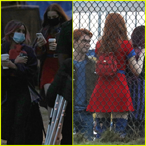 Pregnant Vanessa Morgan Seen On 'Riverdale' Set With Madelaine Petsch & More