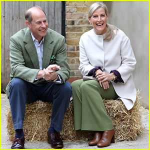 Prince Edward & Sophie, Countess of Wessex Make Rare Appearance Together To Feed Farm Animals