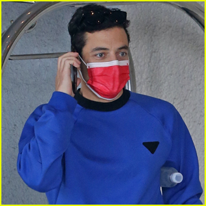Rami Malek Stays Safe in Face Mask While Out & About in WeHo