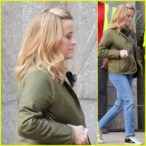Reese Witherspoon Wears a Face Shield While Arriving to Film 'The Morning Show' in LA