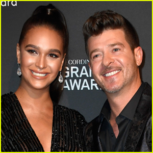 Robin Thicke & April Love Geary Officially Confirm Pregnancy with Cute Bump Pic!