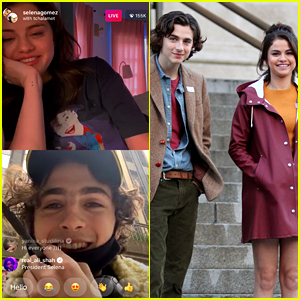 Selena Gomez Called Timothee Chalamet on Instagram Live While He Was In Line to Vote!