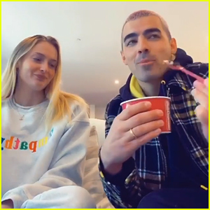 Sophie Turner & Joe Jonas Impersonate Kylie Jenner & Kourtney Kardashian In New TikTok