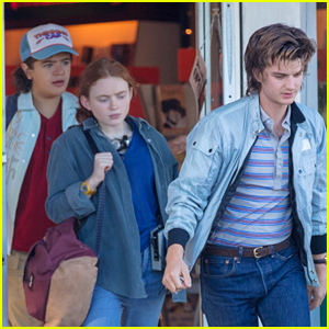 'Stranger Things' Stars Film a Scene at a Video Store - See Photos!