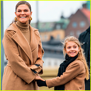 Sweden's Princess Victoria Twins With Daughter Estelle In Matching Outfits