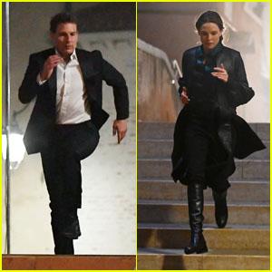 Tom Cruise & Rebecca Ferguson Run Across Bridges While Filming 'Mission: Impossible' Scenes