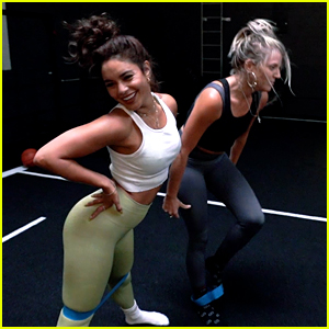 Vanessa Hudgens Takes Fans Into the Dogpound for a Workout with BFF GG Magree!