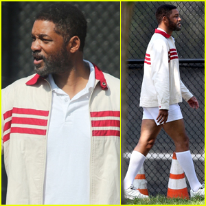 Will Smith Wears Short-Shorts While Filming 'King Richard' Biopic in L.A.