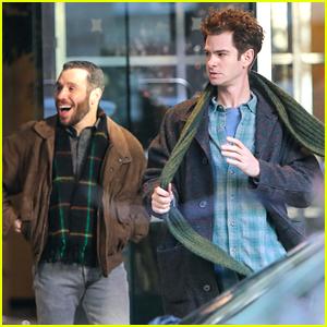 Andrew Garfield Picks Up Filming on 'Tick Tick...Boom' With Robin de Jesus