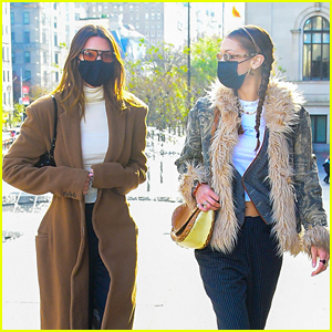 Kendall Jenner & Bella Hadid Visit the Met Museum Together in New York