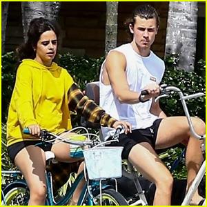 Camila Cabello & Shawn Mendes Ride Their Bikes Around the Neighborhood in Miami