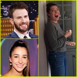 No, Chris Evans Is Not Scaring Aly Raisman in That Cute New Instagram Video