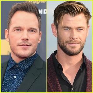 Chris Pratt Jokingly Begs Chris Hemsworth to Stop Working Out