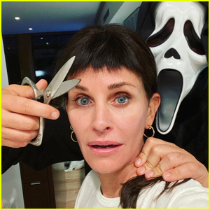 Courteney Cox Pokes Fun at Her 'Scream' Character's Bangs on Halloween!