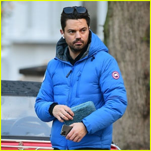 Dominic Cooper Looks After His Beloved Classic Car in London