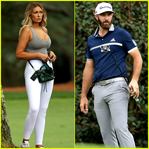 Golfer Dustin Johnson Gets Fiancee Paulina Gretzky's Support at The Masters - See Photos