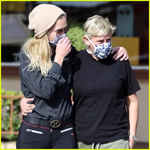 Ellen DeGeneres & Wife Portia de Rossi Keep Close While Out Shopping in Santa Barbara