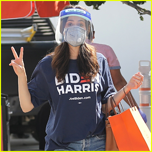 Emmy Rossum Shows Her Biden-Harris Support While Shopping Before Election Day